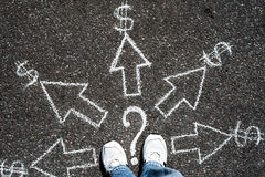 Ways to earn. Which way to choose for earn money Stock Image