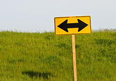 Ways to Go. Directional sign at the end of a rural Wisconsin road Royalty Free Stock Images