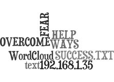 Ways To Help Overcome The Fear Of Success Word Cloud vector illustration
