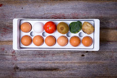Ways To Manage Food In The Refridgerator Royalty Free Stock Photography