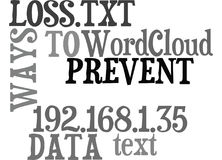 Ways To Prevent Data Loss Word Cloud Stock Photos