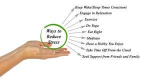 Ways to Reduce Stress. Easy Ways to Reduce Stress Stock Photos