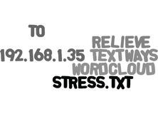 Ways To Relieve Stress Word Cloud Stock Photo