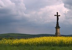 Wayside cross Royalty Free Stock Images