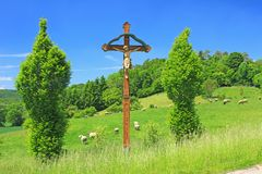 Wayside cross in Germany Royalty Free Stock Photography