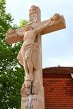 Wayside cross. With hl. walburga in sandweier Baden-Baden Stock Photos