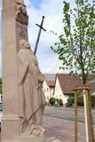 Wayside cross. With hl. walburga in sandweier Baden-Baden Stock Photography