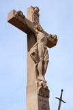 Wayside cross. With hl. walburga in sandweier Baden-Baden Royalty Free Stock Image