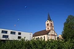 Wayside cross. With hl. walburga in sandweier Baden-Baden Stock Photo