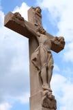 Wayside cross. With hl. walburga in sandweier Baden-Baden Stock Image