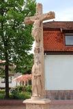 Wayside cross. With hl. walburga in sandweier Baden-Baden Royalty Free Stock Photos