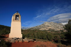 Wayside cross in Provence. Southern France Royalty Free Stock Photo