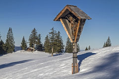 Wayside cross in the Tegernsee Alps Stock Image