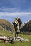 Wayside cross in Tyrol Royalty Free Stock Photography