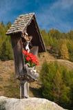 wayside för relikskrin för Österrike korsmarterl Arkivbild