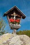 wayside för relikskrin för Österrike korsmarterl Arkivbilder