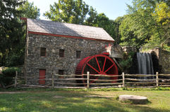 Wayside Grist Mill. Old stone grist mill in Sudbury, MA royalty free stock image