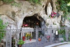 Wayside shrine in Italy Stock Photo