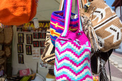 Wayuu bags for sale in Cartagena Stock Photography