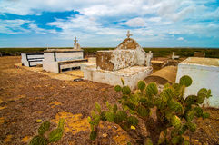 Wayuu Cemetery. An isolated indigenous cemetery in the desert Stock Photos