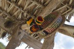 Wayuu Inheemse hoed Stock Foto