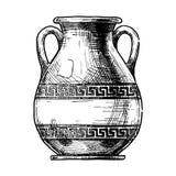 waza greckiej Pelike ilustracja wektor