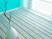 Waza na drewnianej podłoga, ilustracji