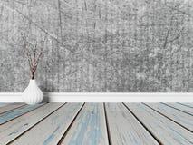 Waza na drewnianej podłoga, 3d ilustracja wektor