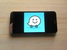 Waze app στοκ φωτογραφία