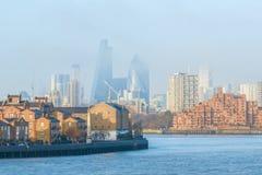 Wazige mening van Stad van Londen stock fotografie