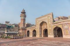Wazir可汗清真寺全景  免版税库存图片