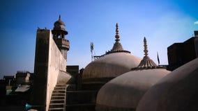 Wazir可汗清真寺圆顶空中全景,拉合尔,巴基斯坦 库存照片