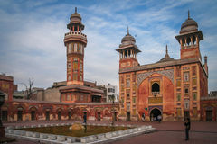 Wazir可汗清真寺拉合尔,巴基斯坦 库存照片