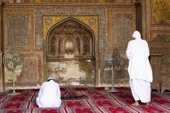 Wazir可汗清真寺,拉合尔,巴基斯坦 库存照片