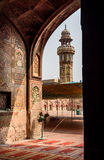 Wazir可汗清真寺,拉合尔,巴基斯坦 免版税图库摄影