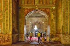 Wazir Khan Masjid, Lahore, Pakistan op 20 Juni 2015 royalty-vrije stock foto's