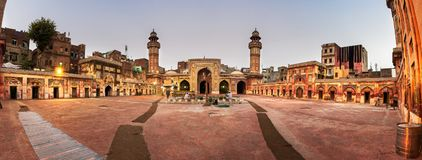 Wazir Khan Mosque Courtyard Lahore Pakistan Stockfotografie