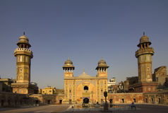 Wazir Khan Mosque by dusk stock photo