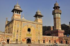Wazir Khan Mosque Lahore, Pakistan. Mughal legacy.he title of 'Wazir Khan' by which he is remembered by posterity was granted him by Shah Jahan, and literally Royalty Free Stock Image