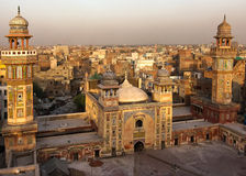 Wazir Khan Mosque, Lahore Pakistan. Rooftop view from Wazir Khan Mosque, Lahore Pakistan. A masterpiece of the moghul architecture and historic landmark in Stock Photos