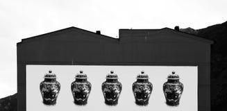 Wazowe serie na tylnej fasadzie Obraz Stock