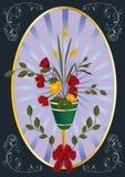 wazowi antyczni kwiaty Fotografia Royalty Free