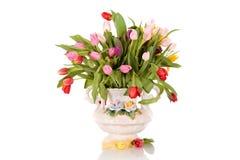 wazowi Easter antykwarscy tulipany obraz royalty free