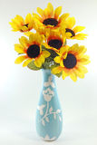 wazowi odosobneni słoneczniki fotografia stock