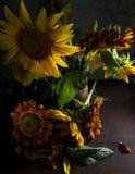 wazowi piękni słoneczniki Zdjęcie Royalty Free