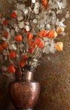 wazowi wysuszeni kwiaty zdjęcia stock