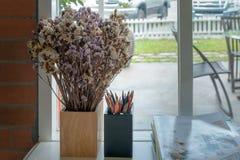 wazowi wysuszeni kwiaty fotografia royalty free