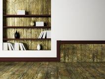 Wazy i książki na półkach ilustracji