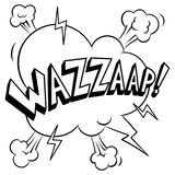 Wazzaap word coloring vector illustration. Isolated image on white background. Comic book style imitation Stock Photography