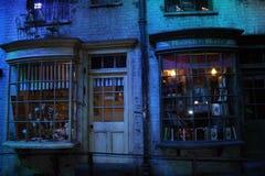 WB studia w Londyn, Harry Poter planie zdjęciowym - obrazy stock